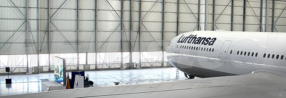 REIDsteel Bottom Rolling Doors - Malta Hangar