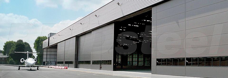 REIDsteel Bottom Rolling Doors - Terminal Hangar