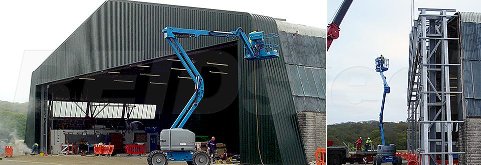 REIDsteel Door Case Study - Bembridge Hangar Extension - vie