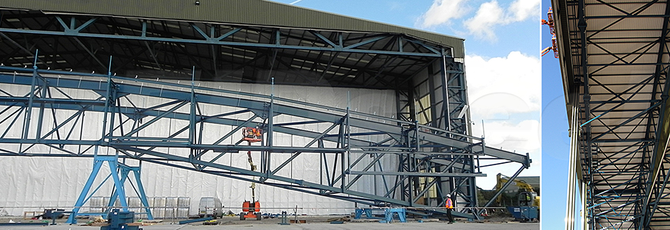 REIDsteel Door Case Study - Hangar 12 Extension - view C