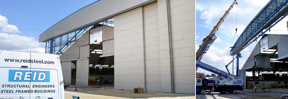 REIDsteel Door Case Study - Inflite Hangar Extension - vie~2