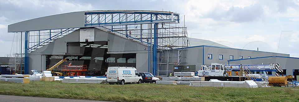 REIDsteel Door Case Study - Inflite Hangar Extension - view