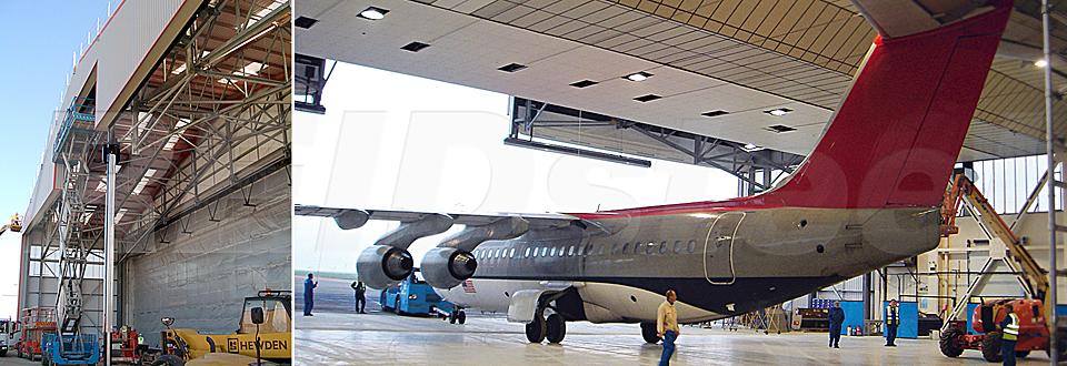 REIDsteel Door Case Study - KLM Hangar Extension - view B