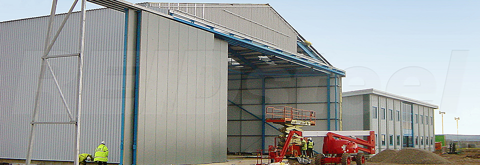 REIDsteel Doors Case Study - Bristol Flying Club Hangar, Bri