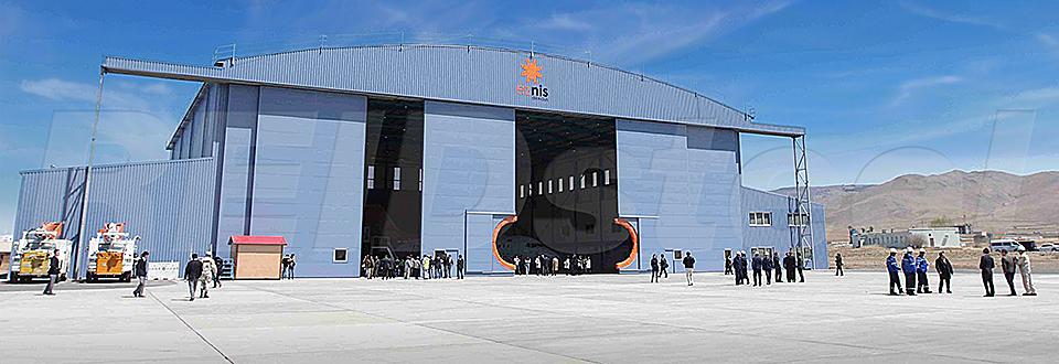 REIDsteel Doors Case Study - Eznis Hangar, Mongolia - view A