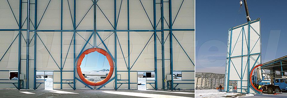 REIDsteel Doors Case Study - Eznis Hangar, Mongolia - view B