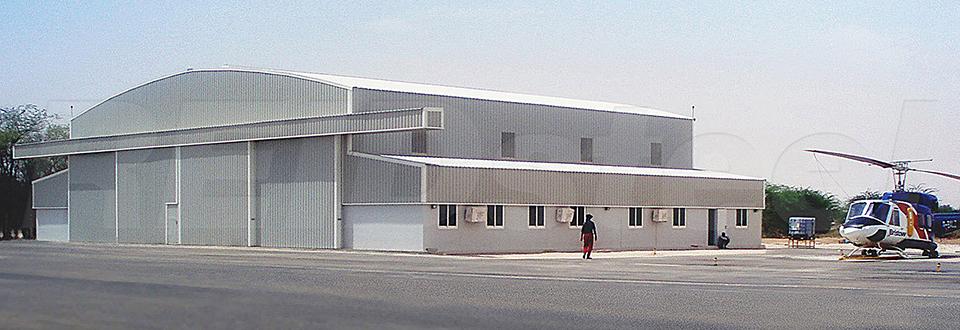 REIDsteel Doors Case Study - Helicopter Hangar, Mauritania -