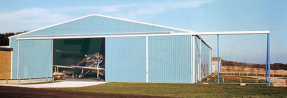 REIDsteel Doors Case Study - Island Aeroplanes Hangar, Isle