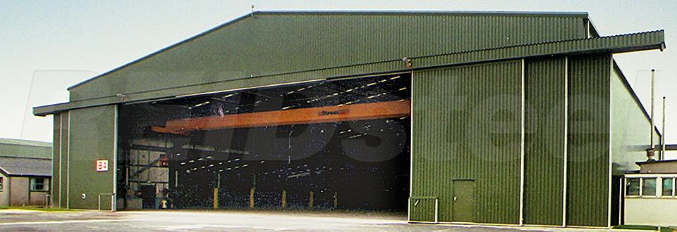 REIDsteel Doors Case Study - RNAS Culdrose Hangar, Cornwall