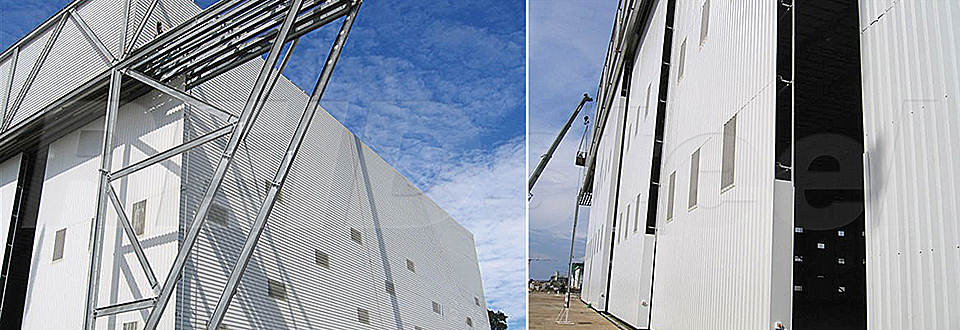 REIDsteel Doors Case Study - TEC International Hangar - view