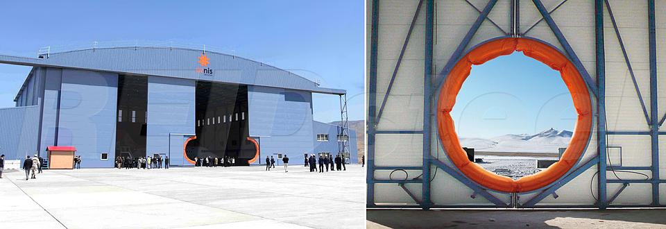 REIDsteel Hangar Doors - Rizon Hangar