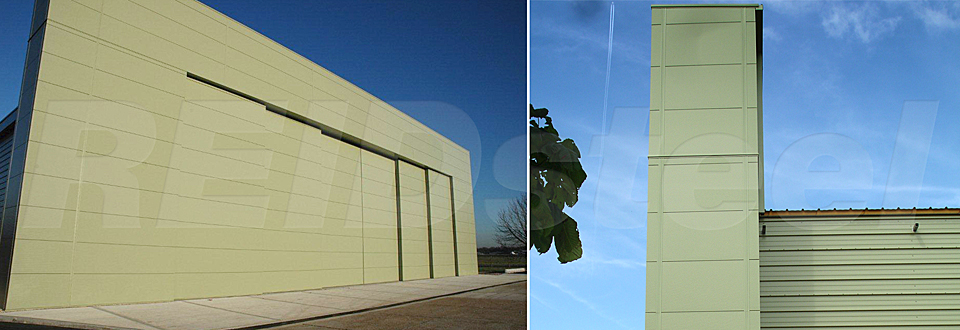 Replacement Doors Case Study - T2 Hangar Extension - view A