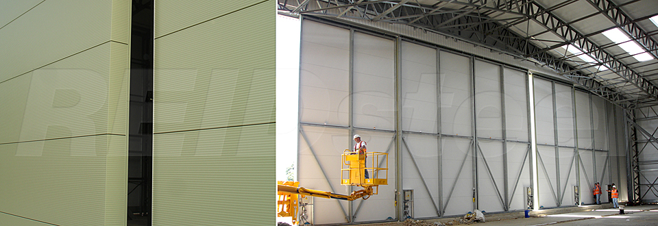 Replacement Doors Case Study - T2 Hangar Extension - view B