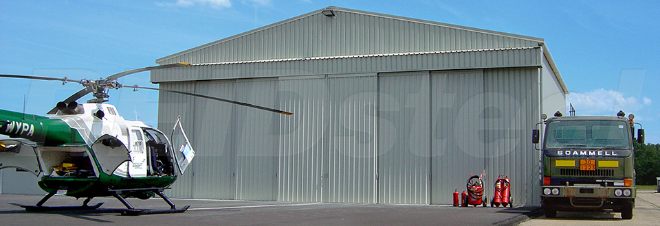REIDsteel Doors Case Study - Surrey Air Ambulance - view A